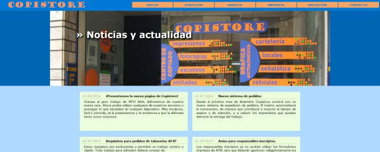 Página web Copistore